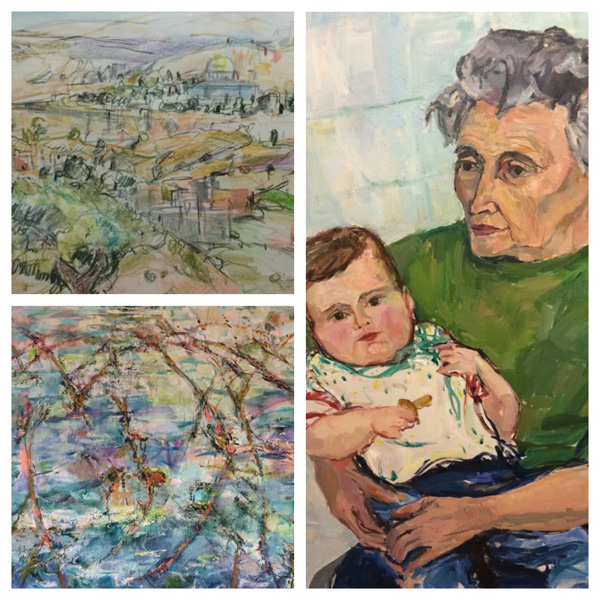 Suzanne Hodes, artist, donated paintings to JF&CS