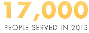 17000 people served in 2013