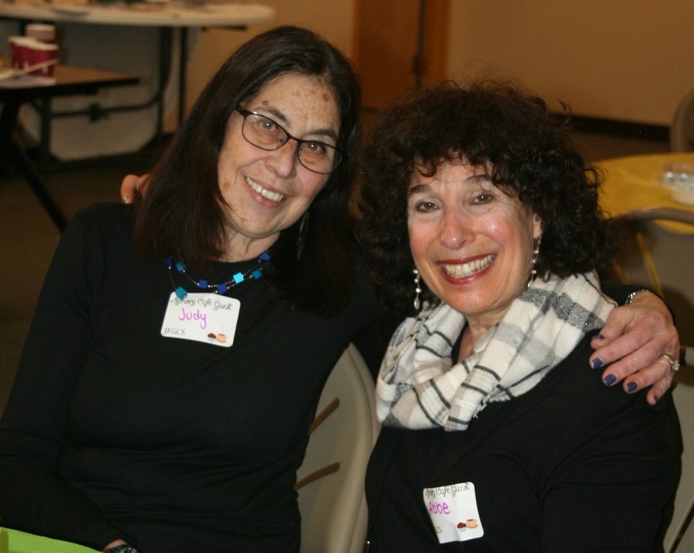 Judy and Abbe at the JF&CS Memory Memory Café.