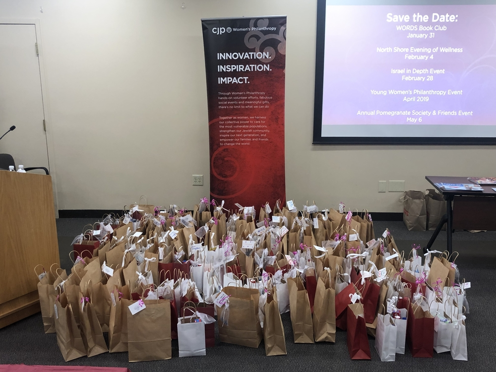 Care packages created at the CJP Women's Philanthropy event.