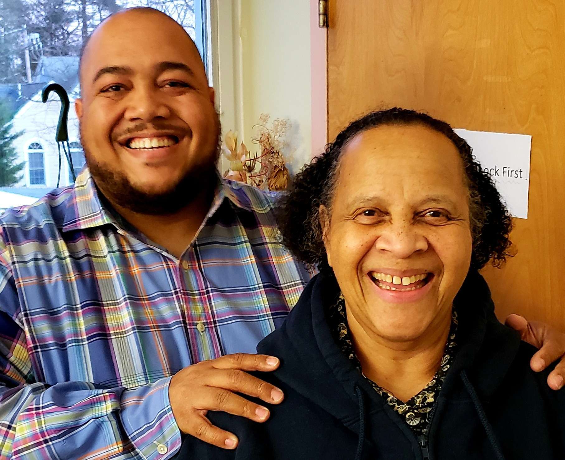 David Grant, Director of Human Resources at JF&CS, and his mother.