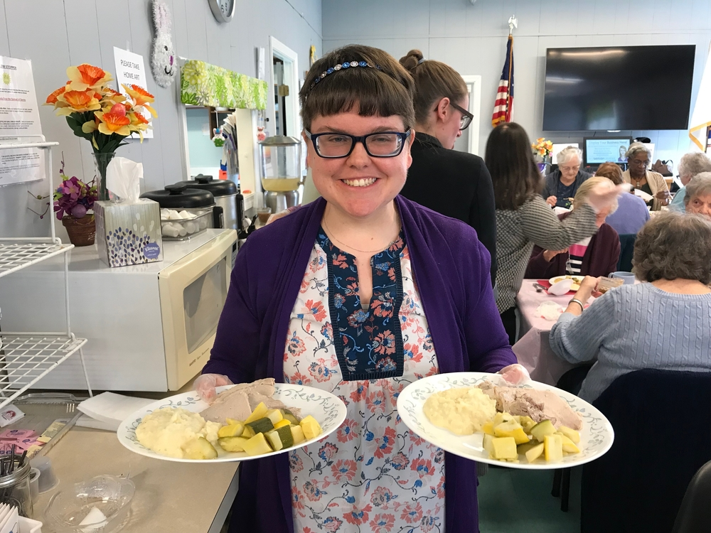 CHAI Works-South Volunteers Serve Food and Smiles at Avon's Council on Aging