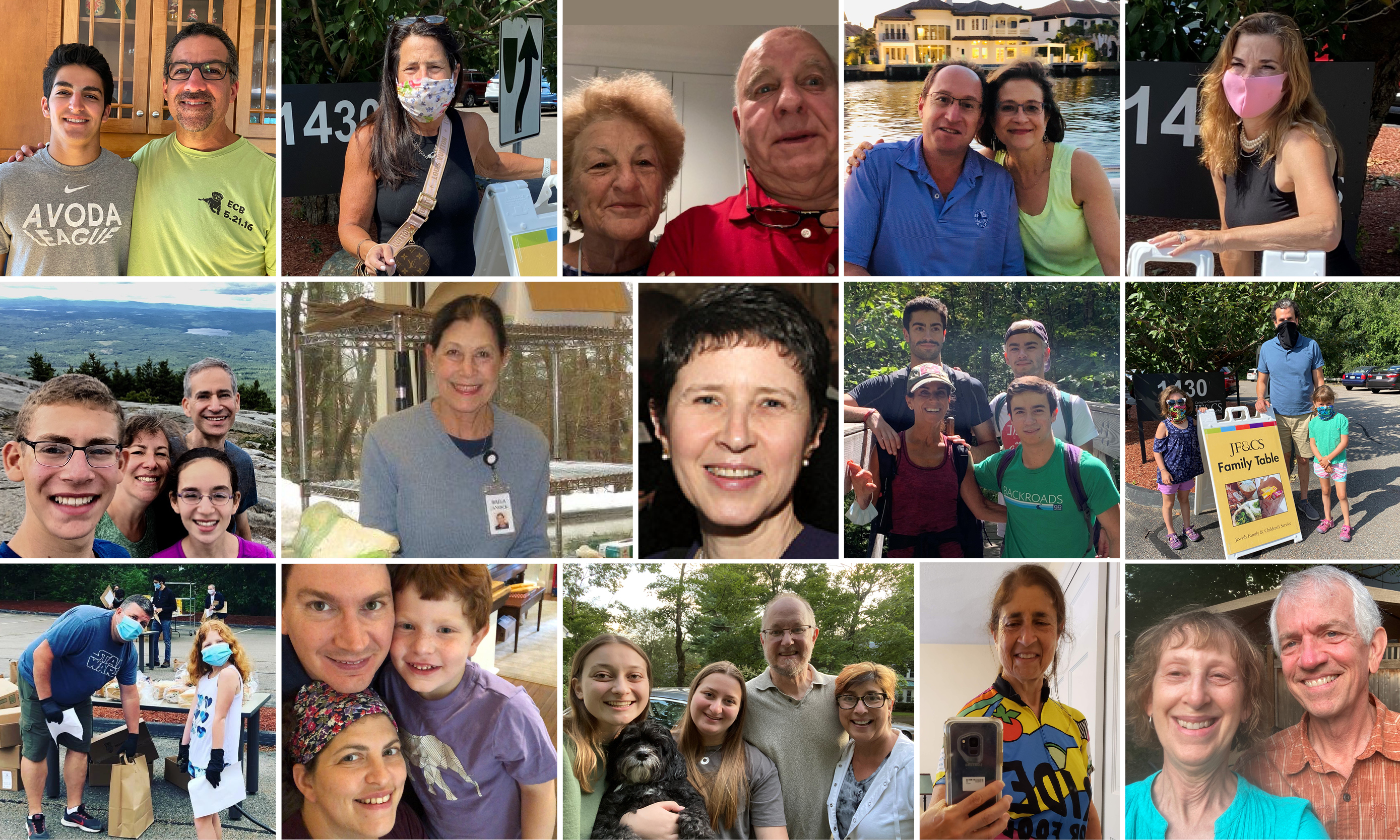A collage of Family Table volunteers.