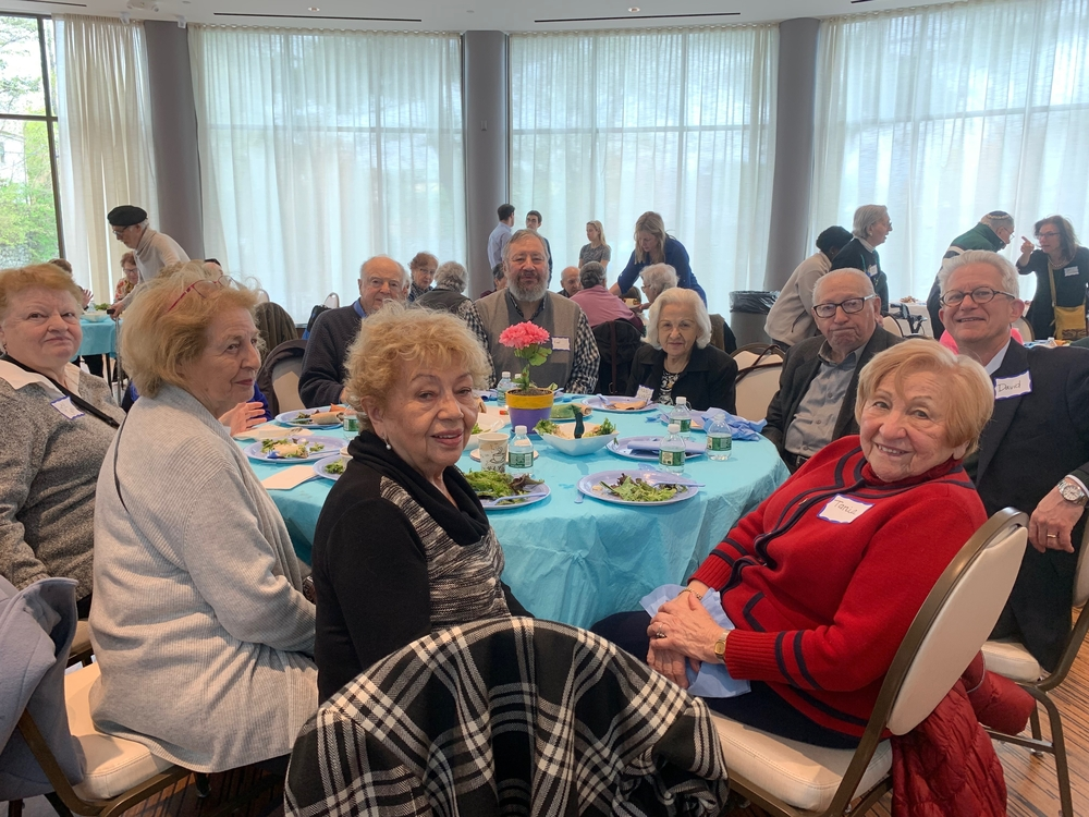 Guests at the 2019 Yom HaShoah lunch organized by Cafe Hakalah.