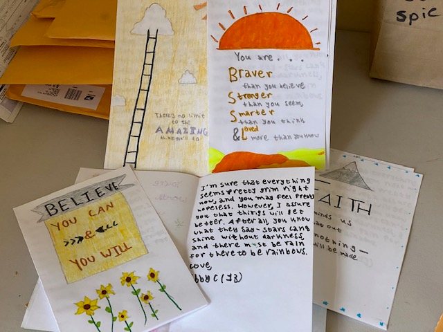 Beautiful homemade cards created by a JF&CS volunteer.