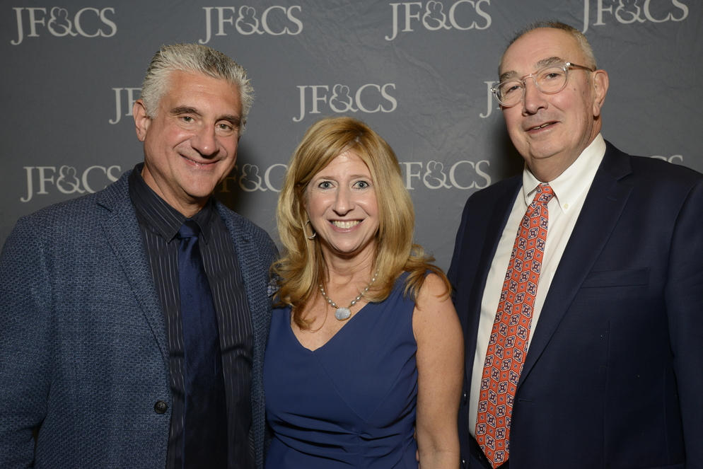 Carl Zack with Laurie and Paul Gershkowitz