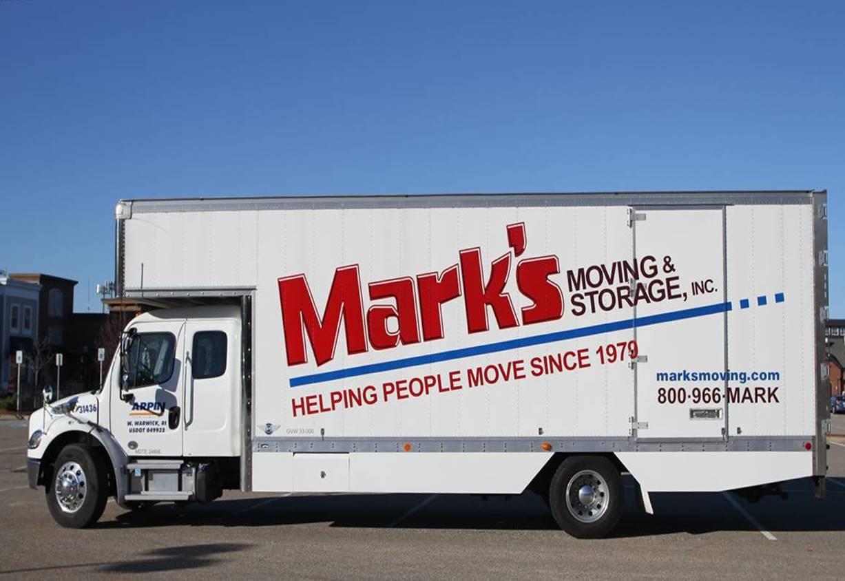 Mark's Moving & Storage truck.