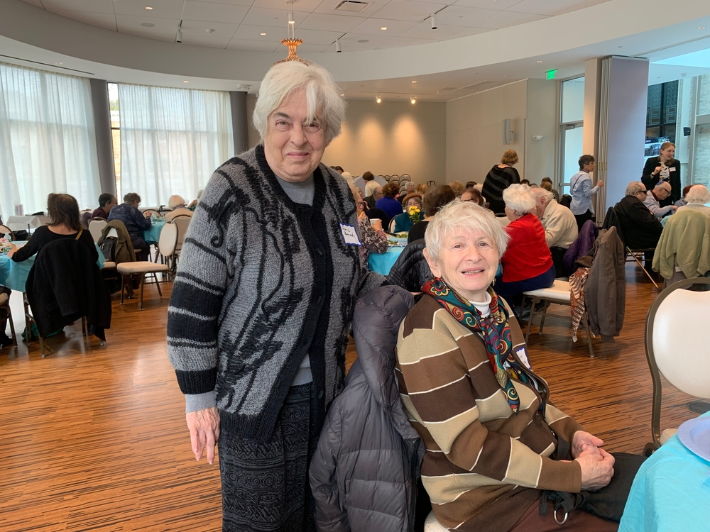 Two guests at the 2019 YomHaShoah event organized by Cafe Hakalah.